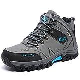 NEOKER Hombre Botas de Trekking y Senderismo Impermeables Aire Libre y Deportes Exterior Montaña Zapatos Gris 40