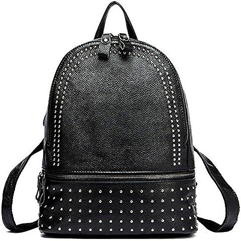 Macton®-Zaino con borchie in pelle da donna, stile Casual, MC-3037