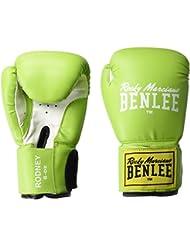 Benlee Rocky Marciano Rodney - Guante de boxeo (PVC), color verde, talla 14