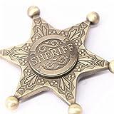 Ultra Fast Retro Sheriff Badge Fidget Hand Spinner Toy-Gold