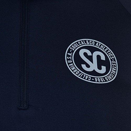 SoulCal Donna Cal con Collo a Imbuto Maglia Azzurro/blu