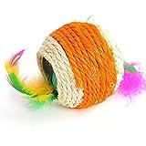 AILILOVEBEAUTY nel Doppio Foro Naturale Badminton Gatto di Colore 7cm Giocattolo