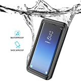 Samsung Galaxy S9 Case Teléfono Móvil Funda impermeable transparente Clear Outdoor antigolpes IP68 Certificación bajo agua Full Sealed kristallklarem funda móvil Waterproof Back Cover Funda, negro