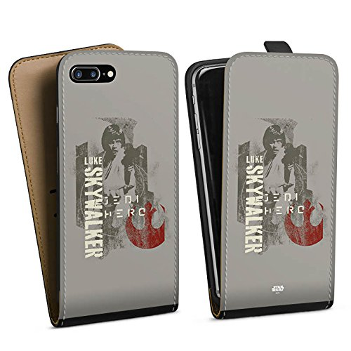 Apple iPhone 7 Silikon Hülle Case Schutzhülle Star Wars Merchandise Fanartikel Luke Skywalker Downflip Tasche schwarz