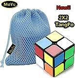 MoYu TangPo 2x2x2 Speed Puzzle Cube Toy Brain Tester Black + One MoYu Cube Bag