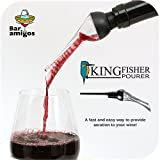Bar Amigos ® Kingfisher Belüfter Ausgießer Weinbelüftungs Spout Bottle Gießen Geschmackvergrößerer Gadget - Passend zu deinen Flasche Rotwein Weiß mit Leichtigkeit - Perfekte Geschenk Trinken