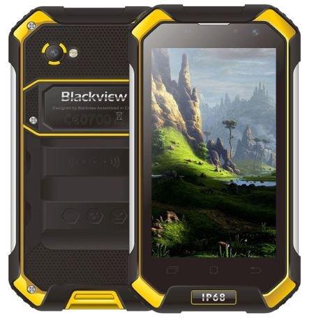 Blackview BV6000 4G Android Dual Sim Smartphone - IP68 Wasserdicht Staubdicht Stoßfest, Octa Core 2.0GHz 3 GB + 32 GB, 5MP + 13MP, GPS/NFC - Gelb