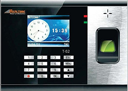 Realtime Biometric Time & Attendance System T52  available at amazon for Rs.7350