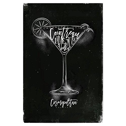artboxONE Poster 30x20 cm Cosmopolitan Cocktail Chalk von Künstler Anna Kozlenko