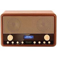 Roadstar HRA-1300 DAB+ - Radio (pantalla LCD, estéreo, 4 W), color marrón
