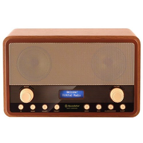 Roadstar HRA-1300DAB+ - Sintonizador de radio digital DAB, color marrón