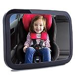 Rücksitzspiegel für Babys, SUPTEMPO Bruchsicherer Auto-Rückspiegel für Babyschale, Babysitz, Kinder in Kinderschale mit 360° drehung, 25 x 18 x 8cm