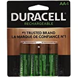 Duracell Rechargeable Ultra Type AA Batteries 2500 Mah, Pack Of 4