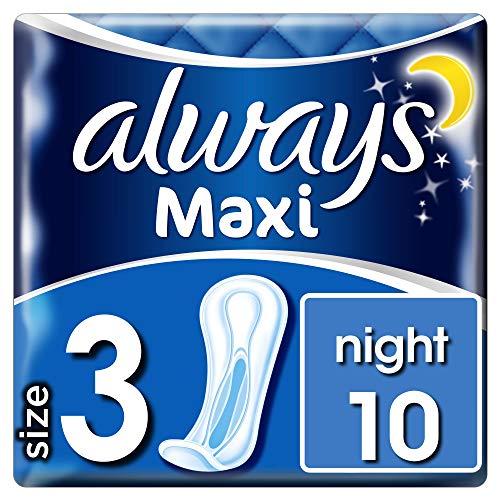 Always Maxi Night Binden, Größe: 3, 8er Pack (8 x 10 Stück)