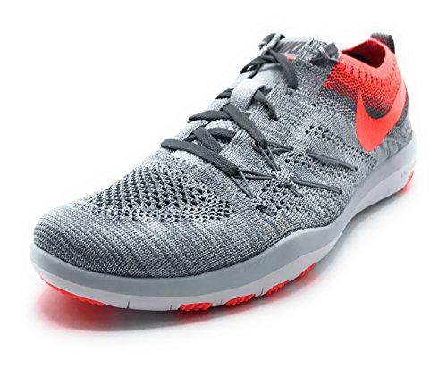 Nike W Free Tr Focus Flyknit, Chaussures de Randonnée Mixte Adulte Pure Platinum/Total Crimson navy pink / DARK OBSIDIAN/FLINT GREY