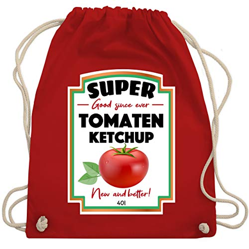 Karneval & Fasching - Ketchup Kostüm funny - Unisize - Rot - WM110 - Turnbeutel & Gym Bag