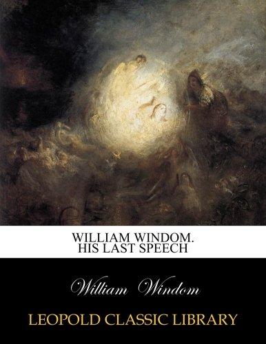 William Windom. His last speech por William Windom