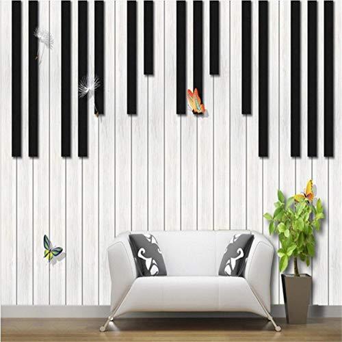 Xbwy Fototapete Benutzerdefinierte Klavier ModeMusik L Tv Hintergrund Wand Wohnzimmer Studio Klassenzimmer Dekoration Tapete-250X175Cm