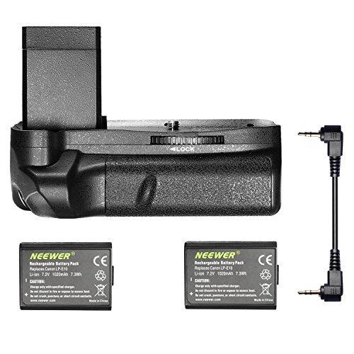 Neewer battery grip verticale con 2pezzi LP-E10batteria sostitutiva per Canon EOS 1100D/1200D 1300D/Rebel T3/T5/T6
