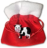 Crazy Cow Kids Christmas Drawstring Pouches Candy Jewelry Gift Bags