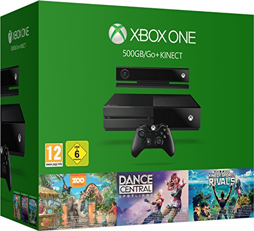 Xbox One 500GB Kinect + 3 Kinect Games Bundle - Central 3 Dance Xbox 360