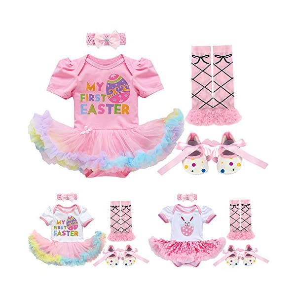 a867be7f3f 4PCS Newborn Infant Toddler Baby Girl First 1st Easter Outfits Set ...