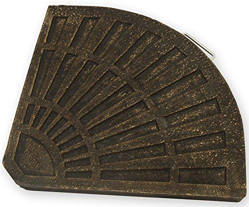 Sonnenschirmständer Gewicht für Ampelschirme Viertel Segment