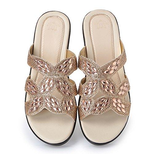 ZYUSHIZ Sommer Strand Sandalen Hausschuhe koreanische Version Frau Outdoor minimalistischen 36EU