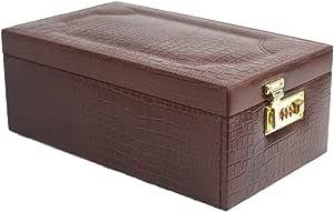Stones Bridge Croco Leather Exclusive Big Locker Jewellery Storage Box for Women (Brown)