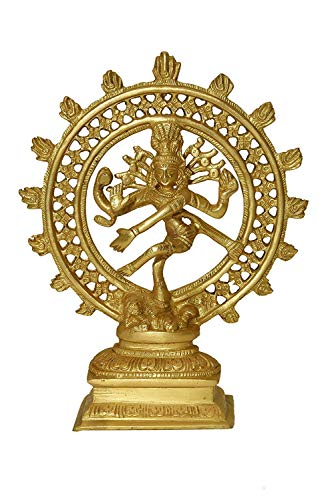 PINK-LOTUS Brass Statue/Idol of Natraj for Blessing, Health, Happiness and Stability at Home & Office Dimension-(LxBxH - 17 x 5 x 21) cm, Weight - 1 Kg - Knowledge Award