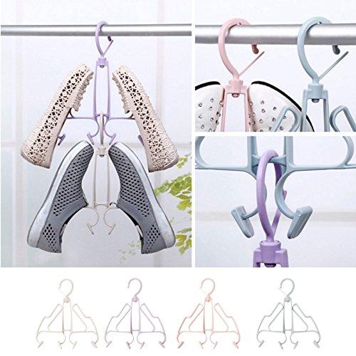 Kofun Bottes Dry Titulaire Rack Titulaire Suspendu Placard Chaussures Organisateur Cintre Lavanderia Viola 10 Confezioni Cachi