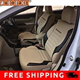 #7: Autofact AF11 PU Leather Car Seat Covers Maruti Alto K10 (Beige / Black)
