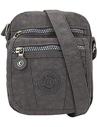 170ade17c0572 ekavale Mini alltags Damen-Handtasche Umhängetasche aus hochwertigem  wasserabwesendem Crinkle…
