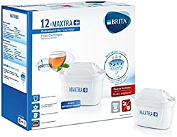 Brita 1025126 MAXTRA+ Cartucce per Caraffe Filtranti per 4 Settimane di Acqua Filtrata, Bianco, 12 unità