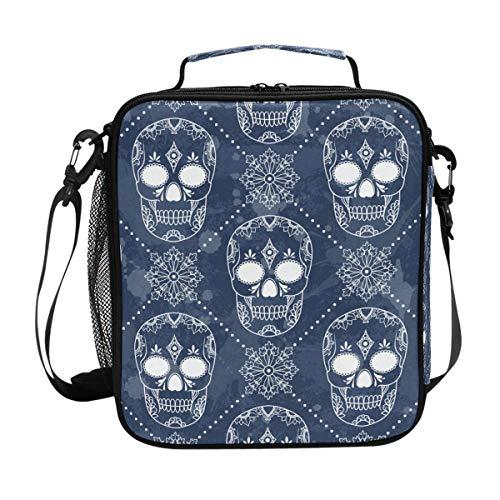 Orediy Isolierte Kühltasche Lunchtasche Dark Skulls Kids Students Tote Bento Lunch-Kit Box für Reisen, Picknick, Schule, Büro (Isolierte Kids Lunch-box-schule)