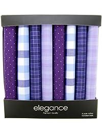 Retreez 8 Piece Pure Cotton Assorted Men's Handkerchiefs Hanky Gift Box Set - Assorted Set A5A008