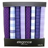 Retreez Caja regalo con colección de 8 pañuelos de puro algodón para hombre - Gemischte Set...