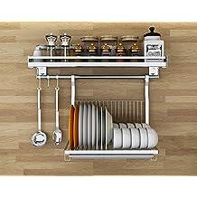 Escurridor de platos de 1 nivel Estante de cocina multifuncional para  colgar en la pared a0db3af2a1c4