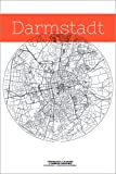 Poster 80 x 120 cm: Darmstadt Karte Kreis von Campus
