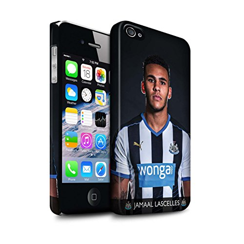 Offiziell Newcastle United FC Hülle / Matte Snap-On Case für Apple iPhone 4/4S / Saivet Muster / NUFC Fussballspieler 15/16 Kollektion Lascelles
