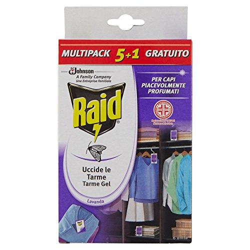 Raid Antitarme Gel, fragranza Lavanda, 6 pezzi