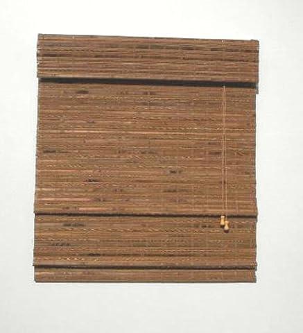 Lewis Hyman 0215235 Havana Bamboo Roman Shade, 35-Inch Wide by 72-Inch Long, Pecan by Lewis Hyman