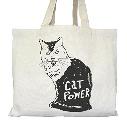 Tote bag Urbain - Soufflet et Poches intérieures - Toile épaisse de coton Bio - Cat Power