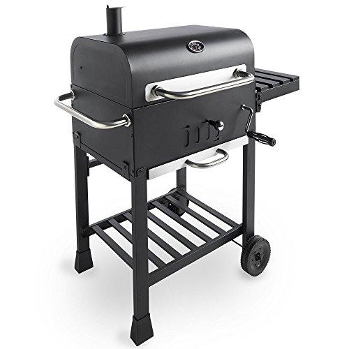 VonHaus Holzkohle BBQ mit Beistelltisch Rack & Temperatur Gauge - Tragbar Terrasse Grill und Smoker