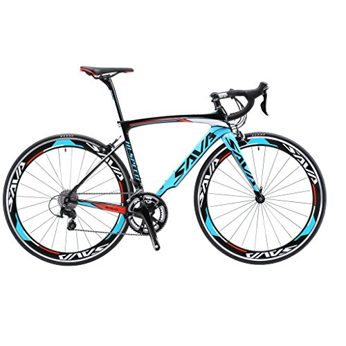 51u2cAu 74L. SS500  - SAVA 700C Road Bike T800 Carbon Fiber 48/50/52CM Frame / Fork / Seat Post with SHIMANO 105 5800 22 Speed Derailleur System and KENDA 23C Tire Ultra-light 18.96lb