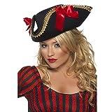 Smiffys Déguisement Femme, Chapeau de pirate Fever, Taille unique, Couleur: Noir, 24206