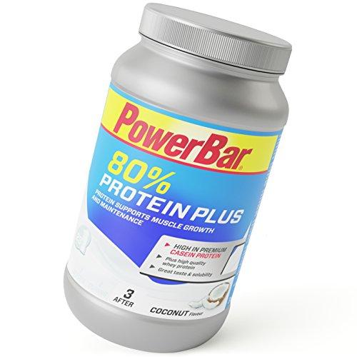 PowerBar Casein Whey Protein-Pulver – Protein Plus 80% – Eiweißpulver ohne Farbstoffe und Aspartam – Protein Shake – 700g Kokos