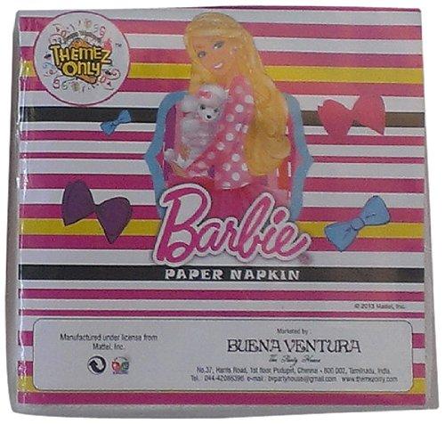 Themez Only Themez Only Barbie Paper Napkins, Multi Color
