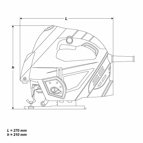 800 Watt Stichsäge Laser Pendulhub Hubzahlregler T-Schaft - 9