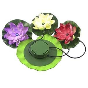 Lampe Lumière Solaire LED de Fleur de Lotus Flottant pour Etang Jardin Piscine Pelouse Veilleuse